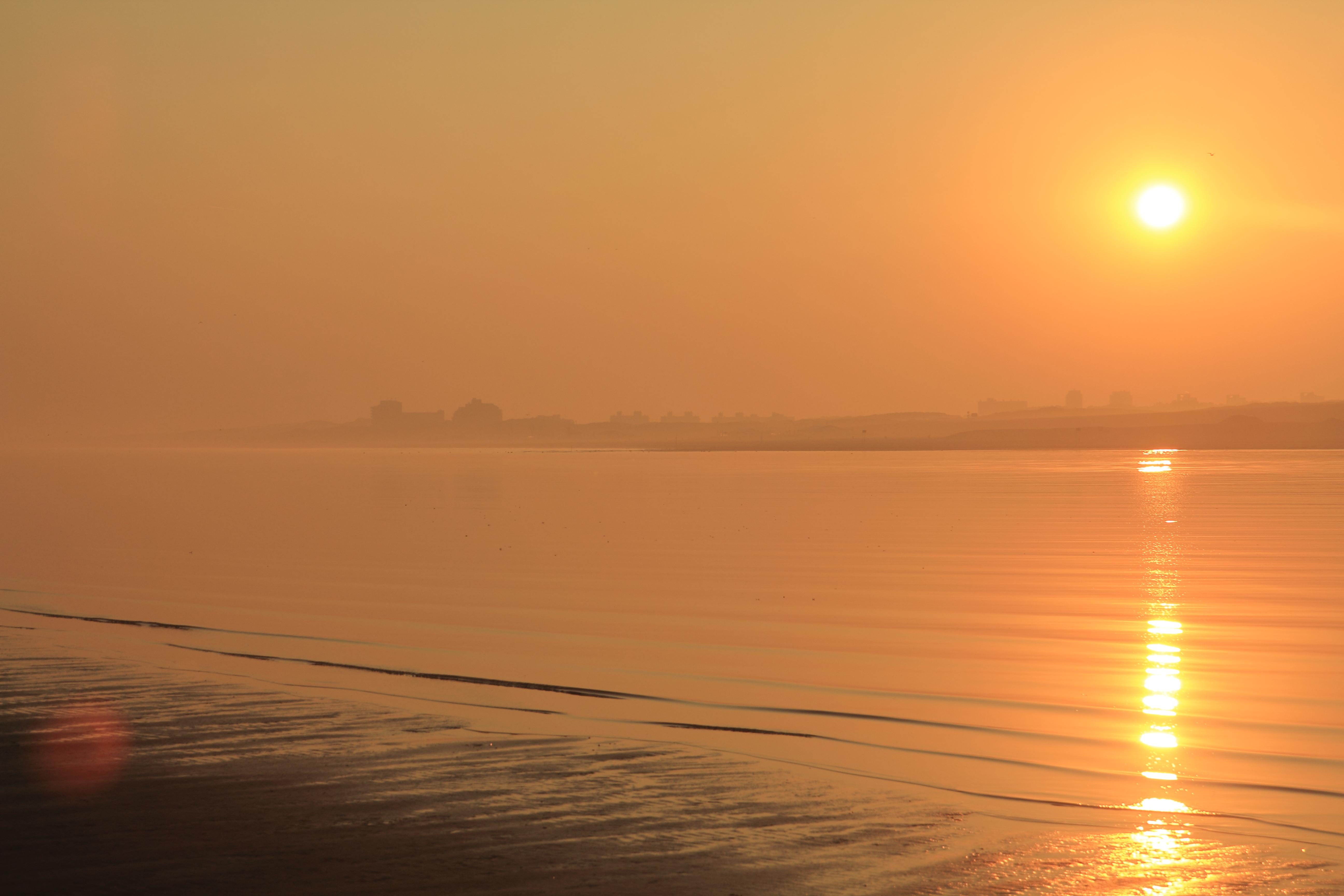 Zandmotor zonsopkomst