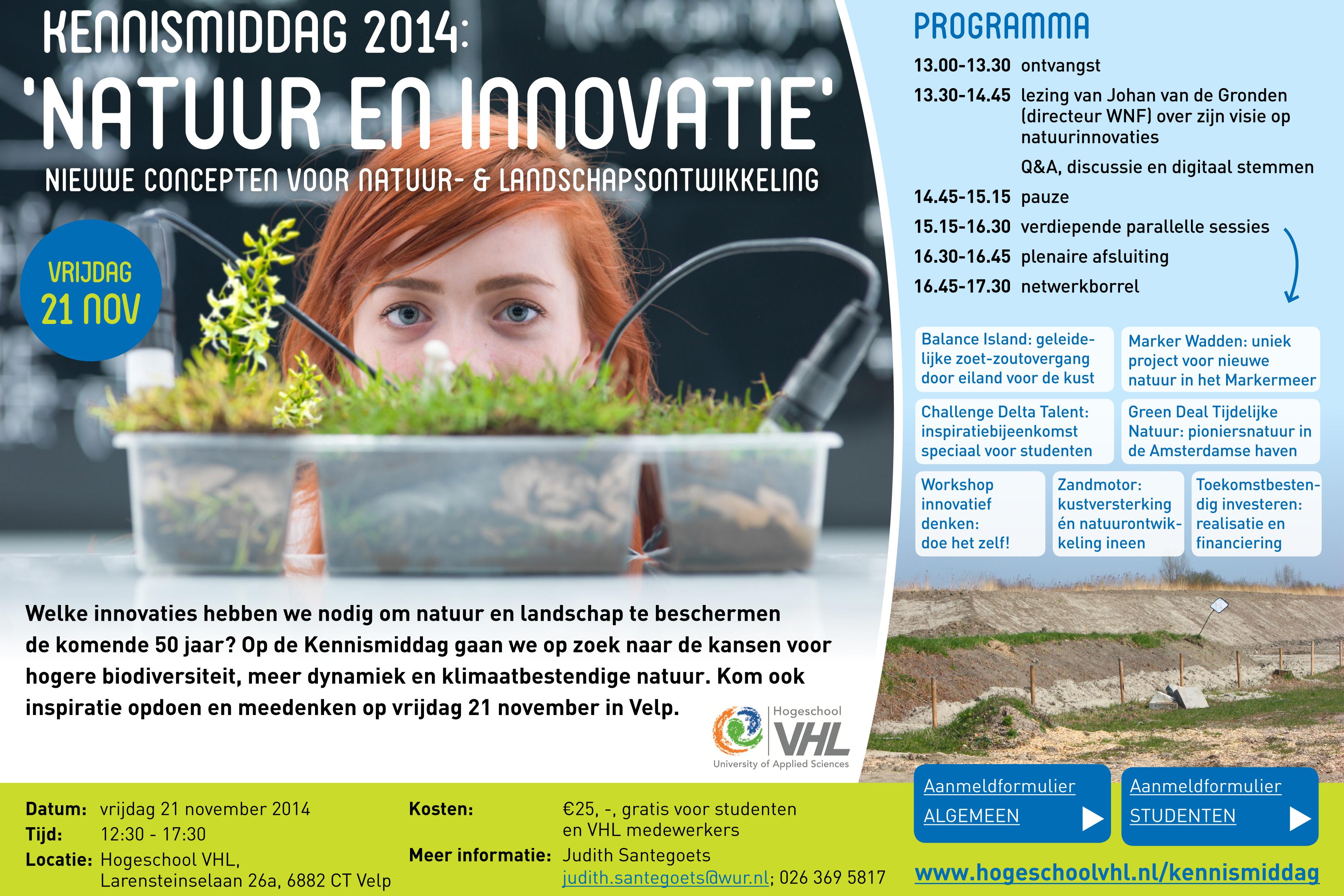 Kennismiddag Natuur en innovatie