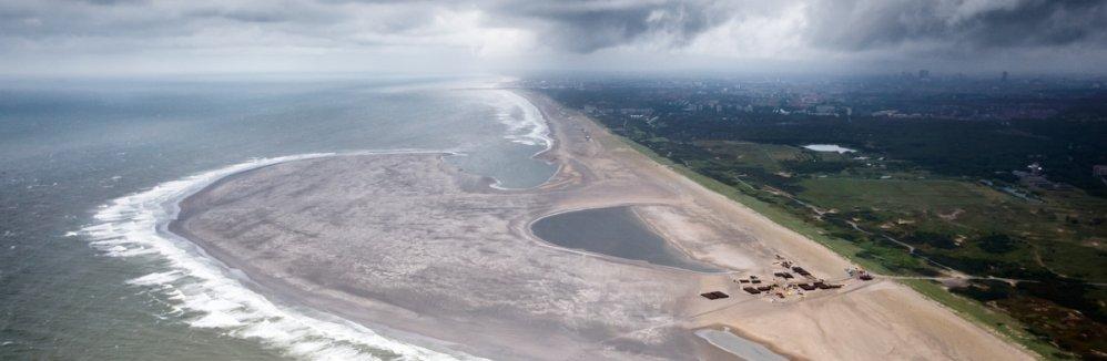 Zandmotor bij Ter Heijde. Foto: Rijkswaterstaat/Joop van Houdt