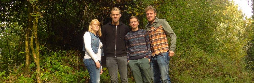 Studenten Bos en Natuurbeheer van Hogeschool Van Hall Larenstein