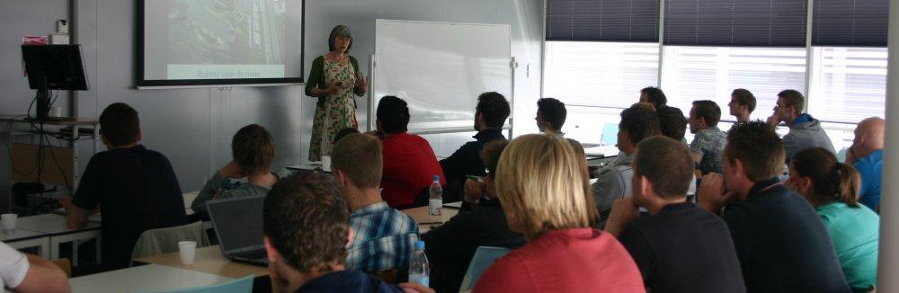 Gastcollege voor studenten van Hogeschool Inholland Delft