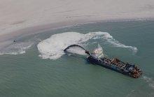 Opspuiten zand. Foto: Beeldbank Rijkswaterstaat
