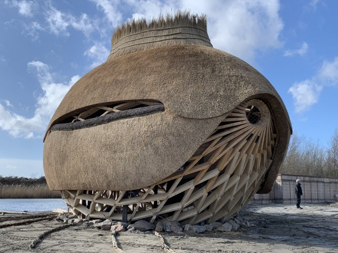 Vogelobservatorium Tij bij het Haringvliet. Foto: RoAd Architecten